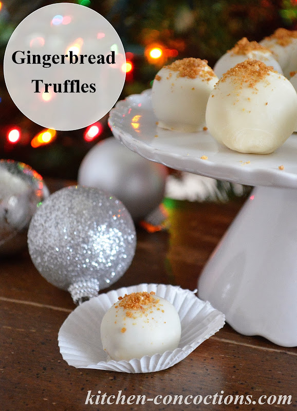 Gingerbread Truffles - Kitchen Concoctions