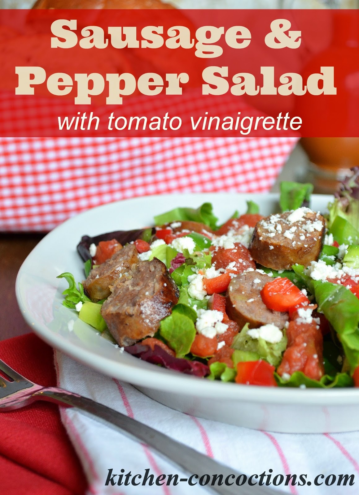Sausage and Pepper Salad with Spicy Tomato Vinaigrette Recipe ...