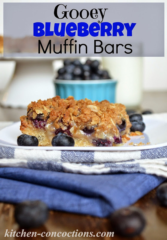 Gooey Blueberry Muffin Bars - Kitchen Concoctions