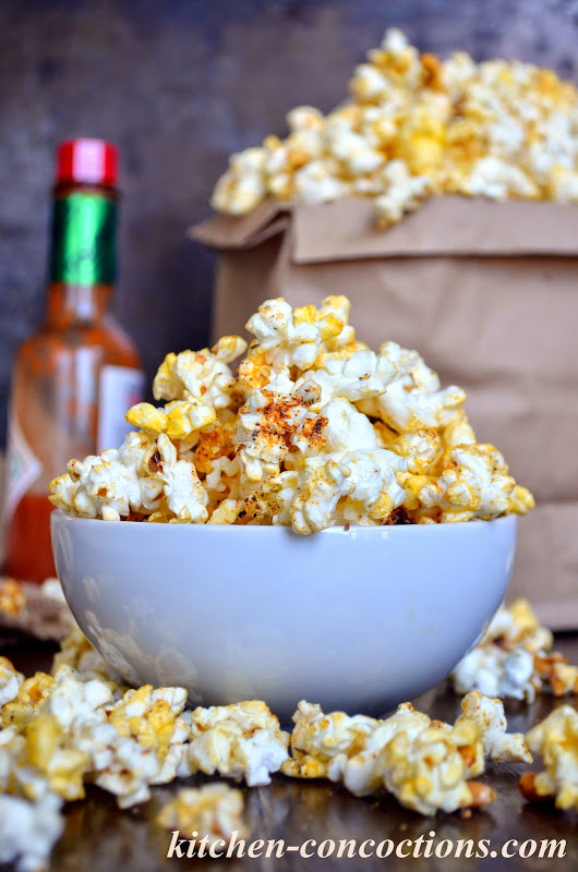 Spicy Cajun Popcorn - Kitchen Concoctions
