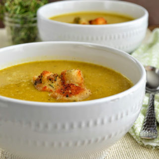 Winter Squash Soup with Gruyère Herb Croutons