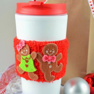 DIY Simple No Sew Coffee Cup Sleeve {Crafty Concoctions}