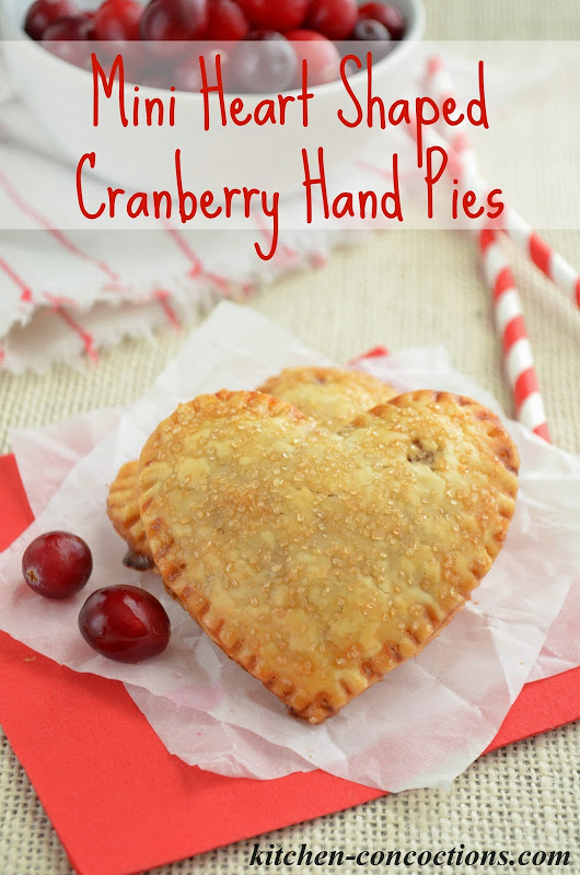 Mini Heart Shaped Cranberry Hand Pies {Plus a Comforting Winter Dinner ...