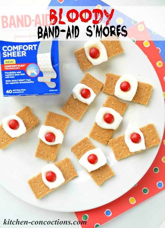 Bloody Band-Aid S'mores {Ghoulish Grub}