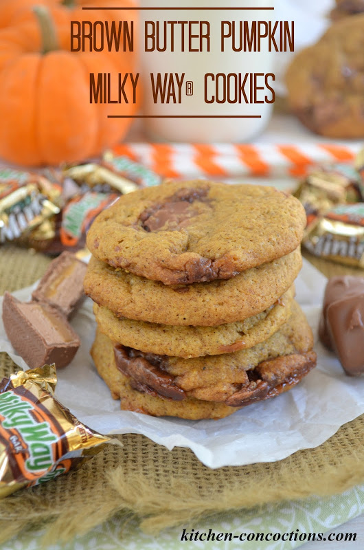 "Brown Butter Pumpkin MILKY WAY® Cookies {Plus ""BOO'd"" Care Packages}"