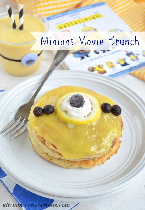 "Minions Movie Brunch {Lemon Curd ""Minion"" Pancakes and Minion Smoothies}"