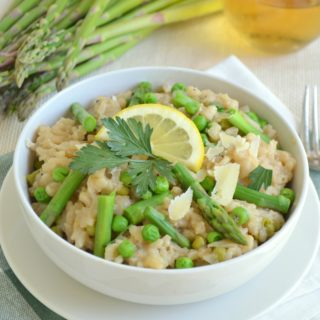 Asparagus, Pea and Lemon Risotto