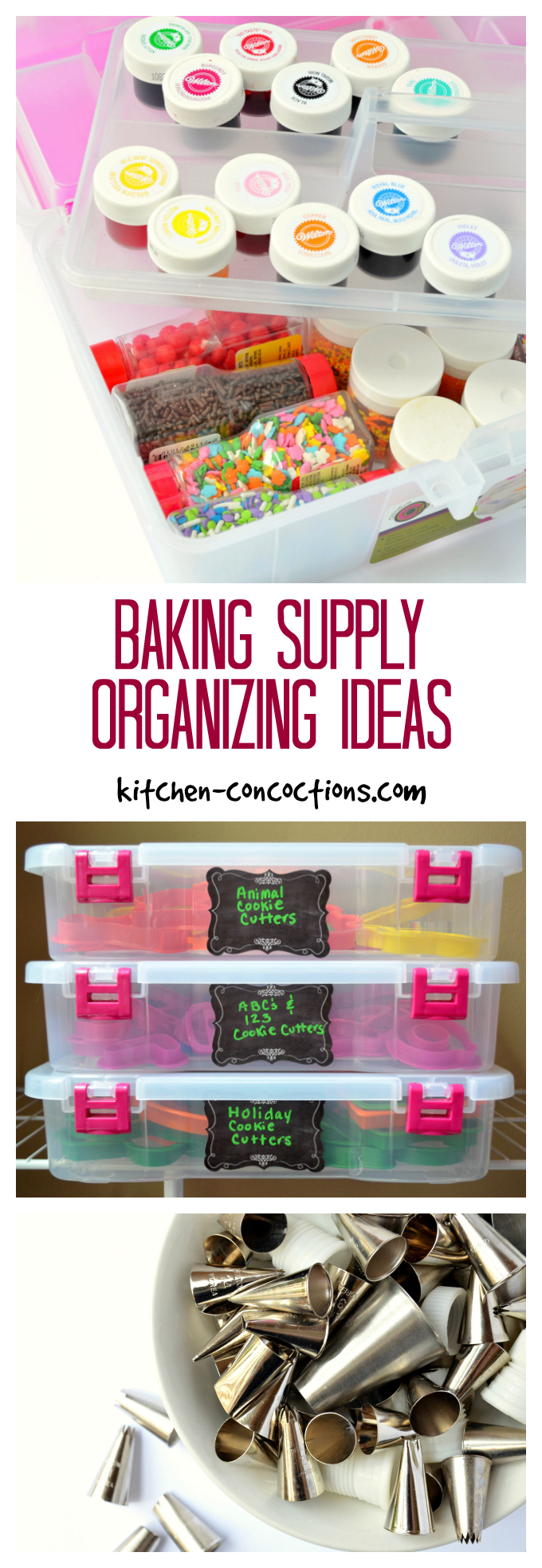 Cake Decorating Solutions Facebook : Baking Supply Organizing Ideas - Kitchen Concoctions