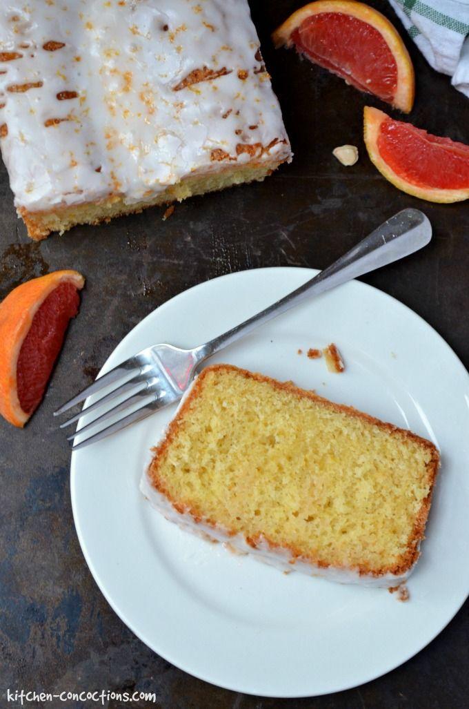 Grapefruit Olive Oil Pound Cake