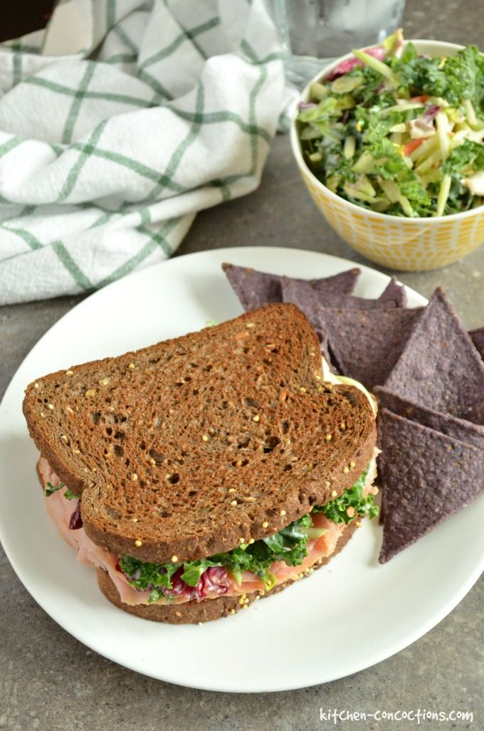 Ham and Kale Coleslaw Sandwiches