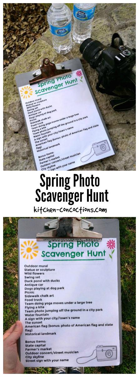 Spring Photo Scavenger Hunt
