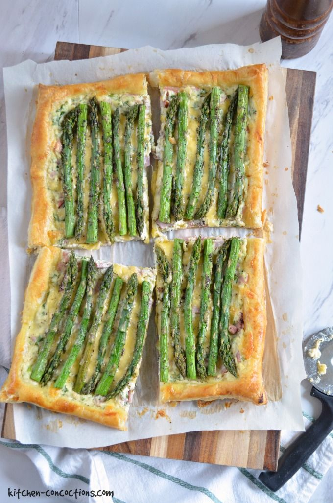 Ham and Asparagus Tart