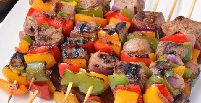 Steak Fajita Kabobs
