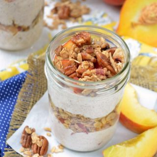 Peach Parfait with Pecan Praline Granola