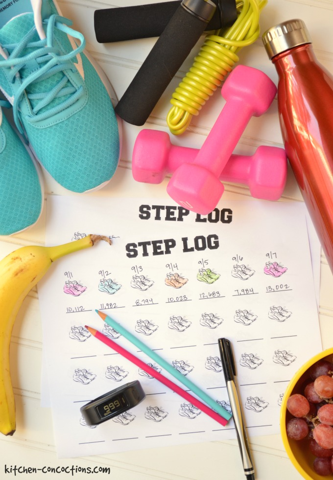 40 Ways to Get 10,000 Steps a Day {Plus Step Log Download}