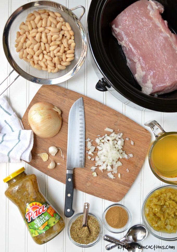 Slow Cooker Salsa Verde Pork Chili