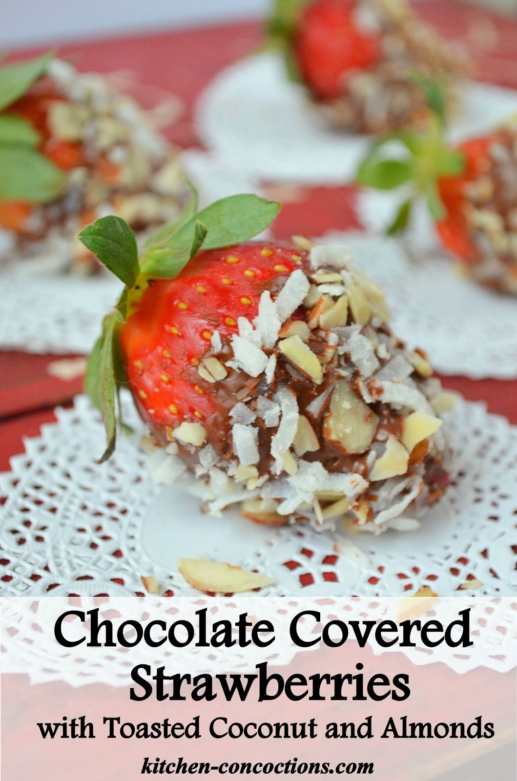 Chocolate Covered Strawberries With Toasted Coconut And
