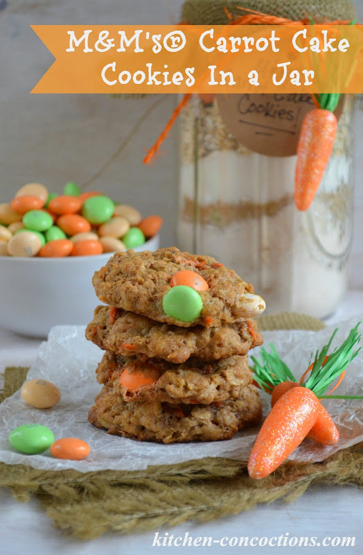 M m 39 s carrot cake cookies in a jar and easy easter brunch Fun easter brunch ideas