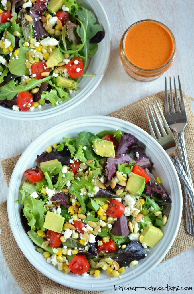 Corn, Avocado and Tomato Salad with Roasted Red Bell ...