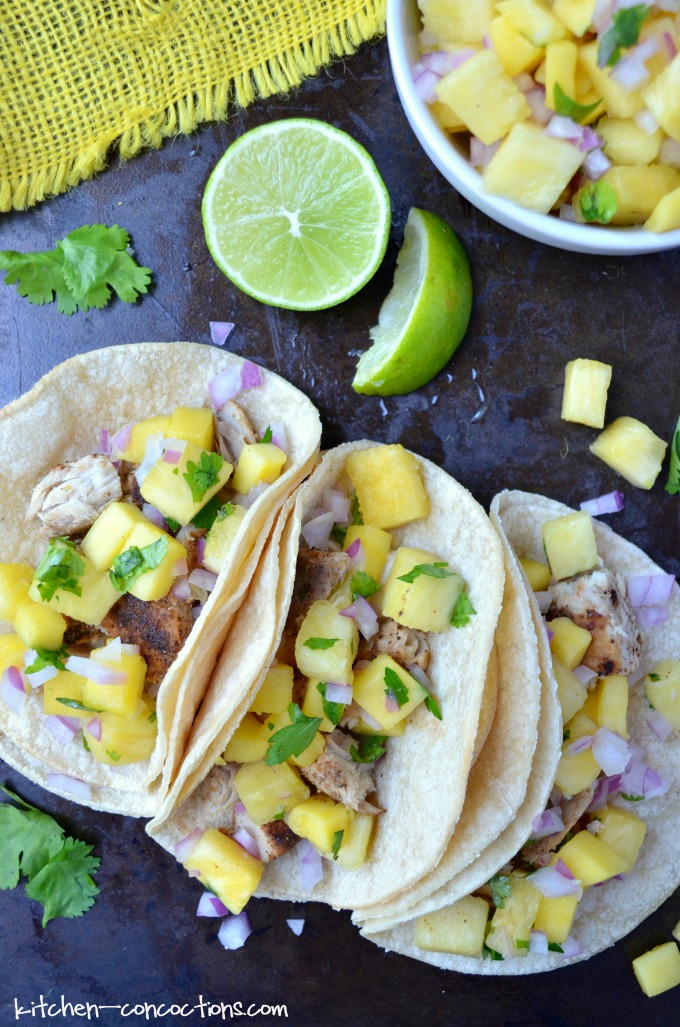 Mahi Mahi Tacos With Pineapple Mango Salsa Kitchen