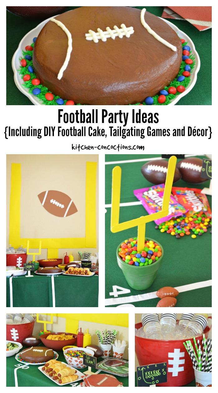 Make A Football Party Cake
