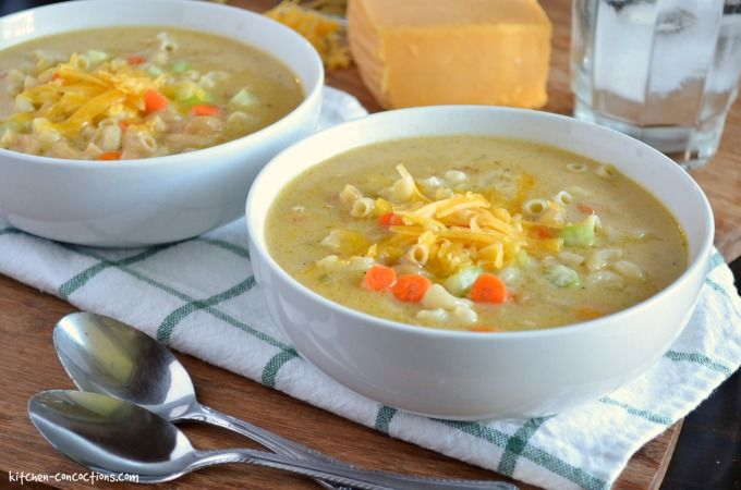Macaroni and Cheese Soup - Kitchen Concoctions