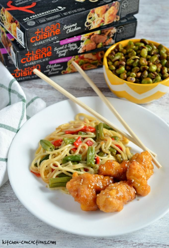 Nestle Stouffers Lean Cuisine Entree Sesame Chicken, 9 Ounce -- 12 per case. Lean Cuisine Cafe Classics Sesame Chicken is an Asian-style dish thats lighter than take-out.