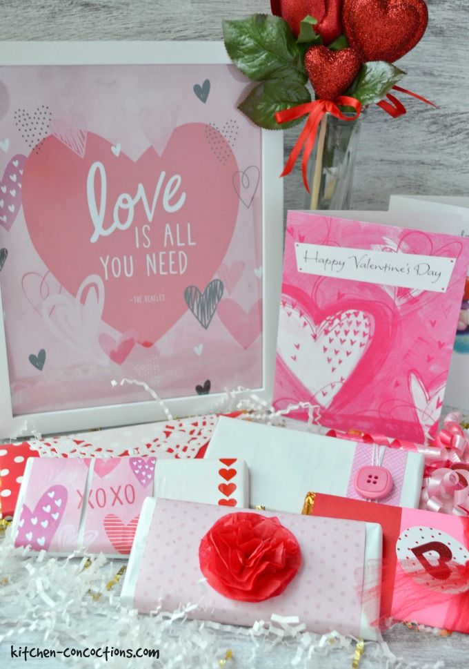 Diy valentine39s candy bar wrappers kitchen concoctions for Diy candy bar wrapper